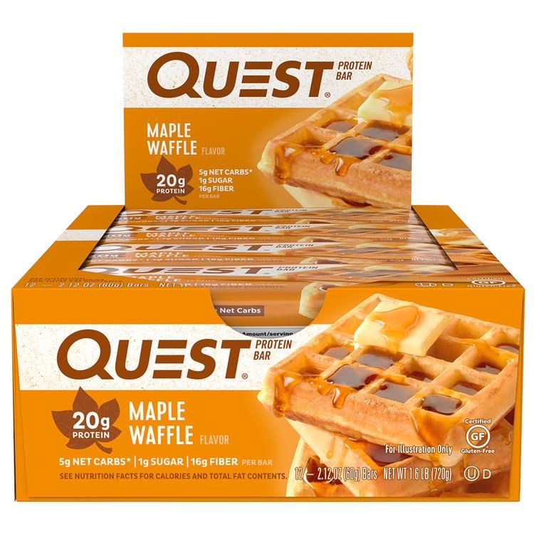 Maple Waffle Protein Quest Protein Bars Protein Bars Protein Chips