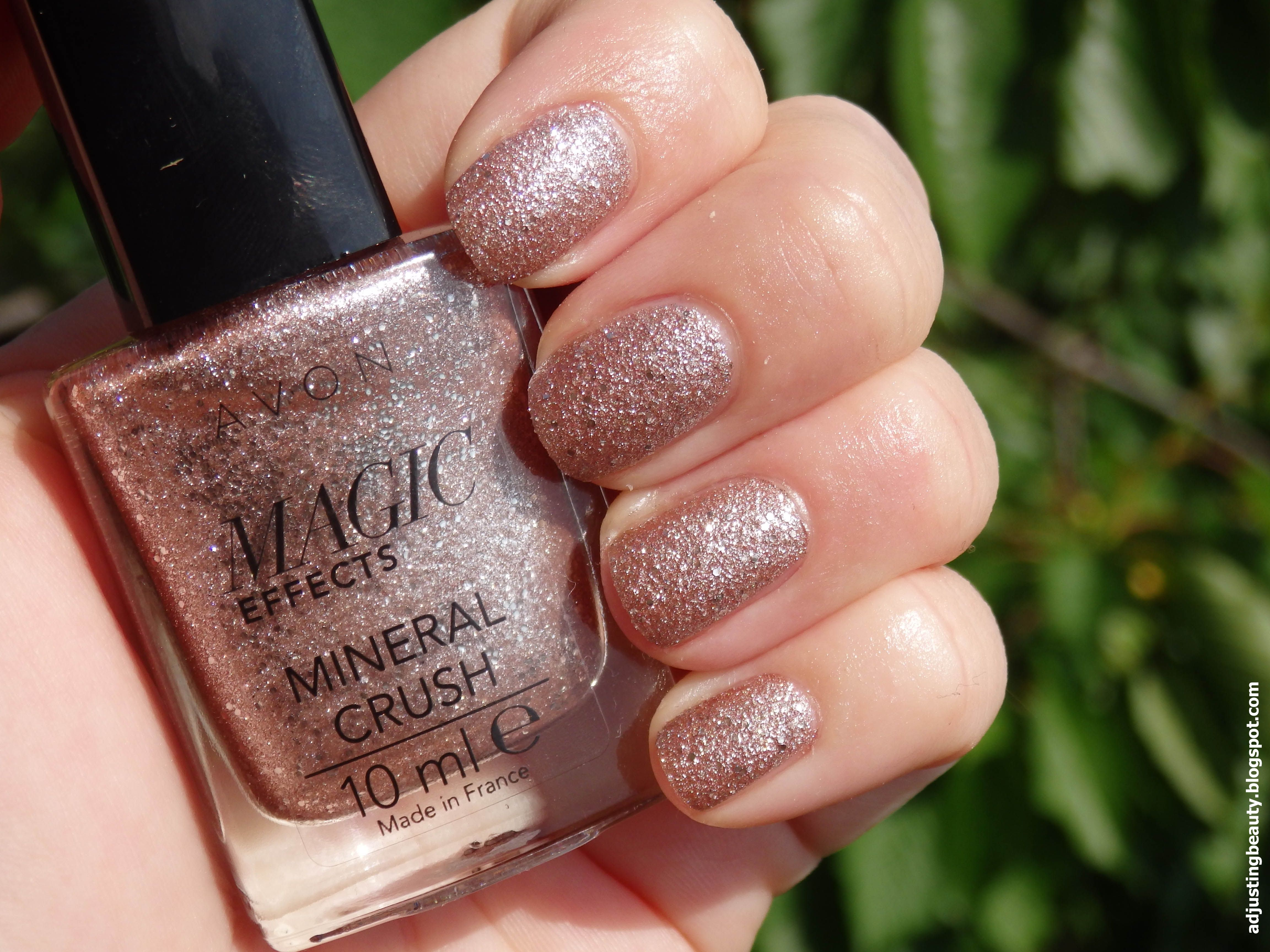 Review of Avon Magic Effects Mineral Crush nail polish in Pearl | My ...