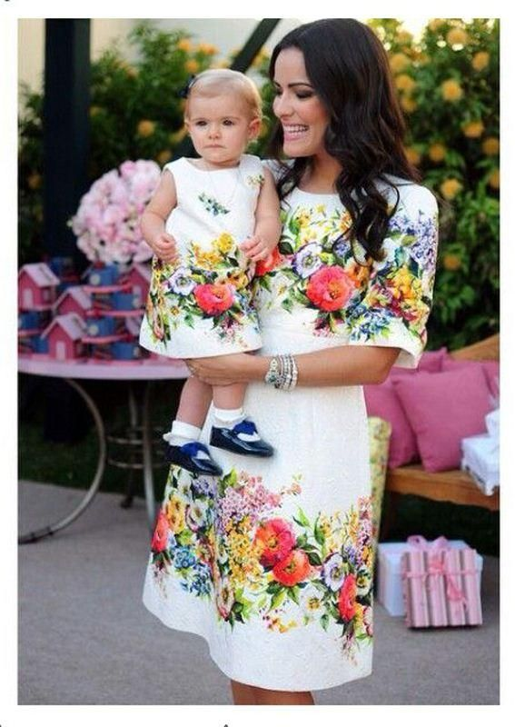 Fashion Matching Mother Daughter Clothes Summer Style mother ... e002e6ccd69e
