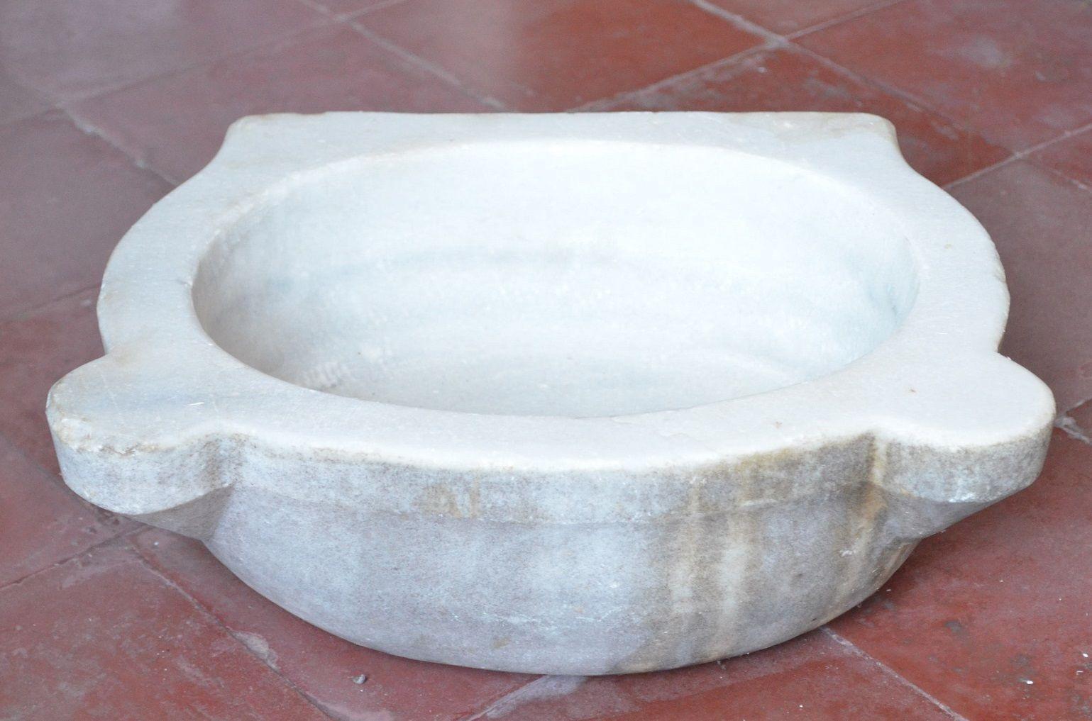 Antica vasca in marmo acquasantiera lavandino lavello no pietra ...