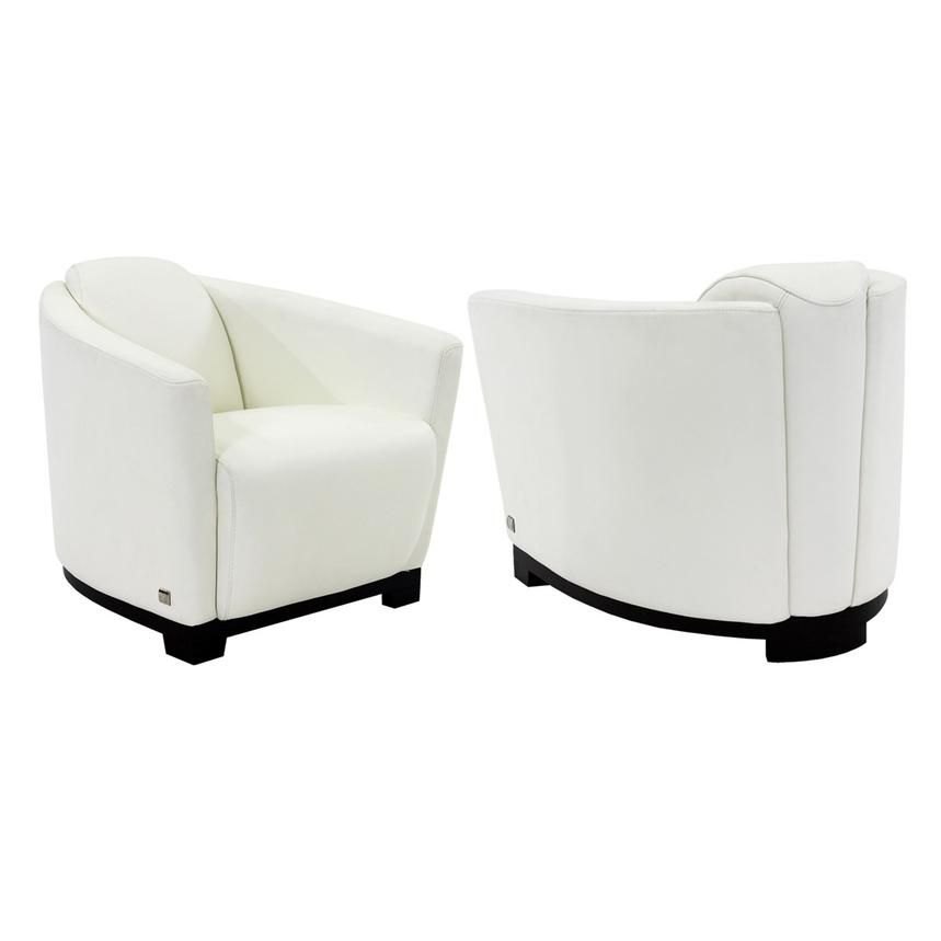 Fellini white leather accent chair white leather chair