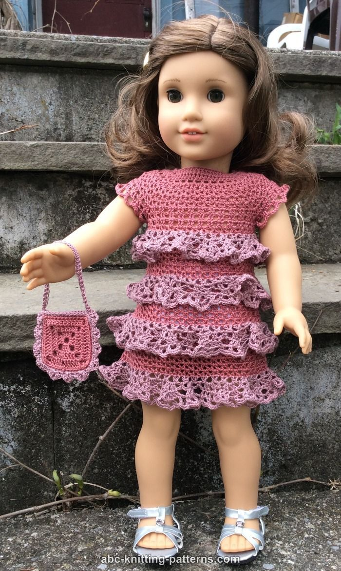 ABC Knitting Patterns - American Girl Doll Evening Dress with ...