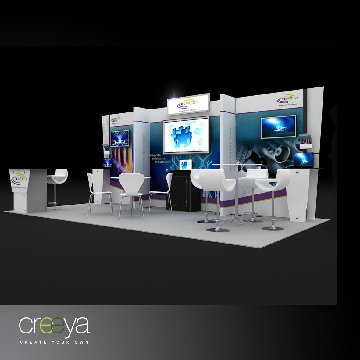 Exhibition Stand Design Cost : Creeya modular display exhibit is termed as custom