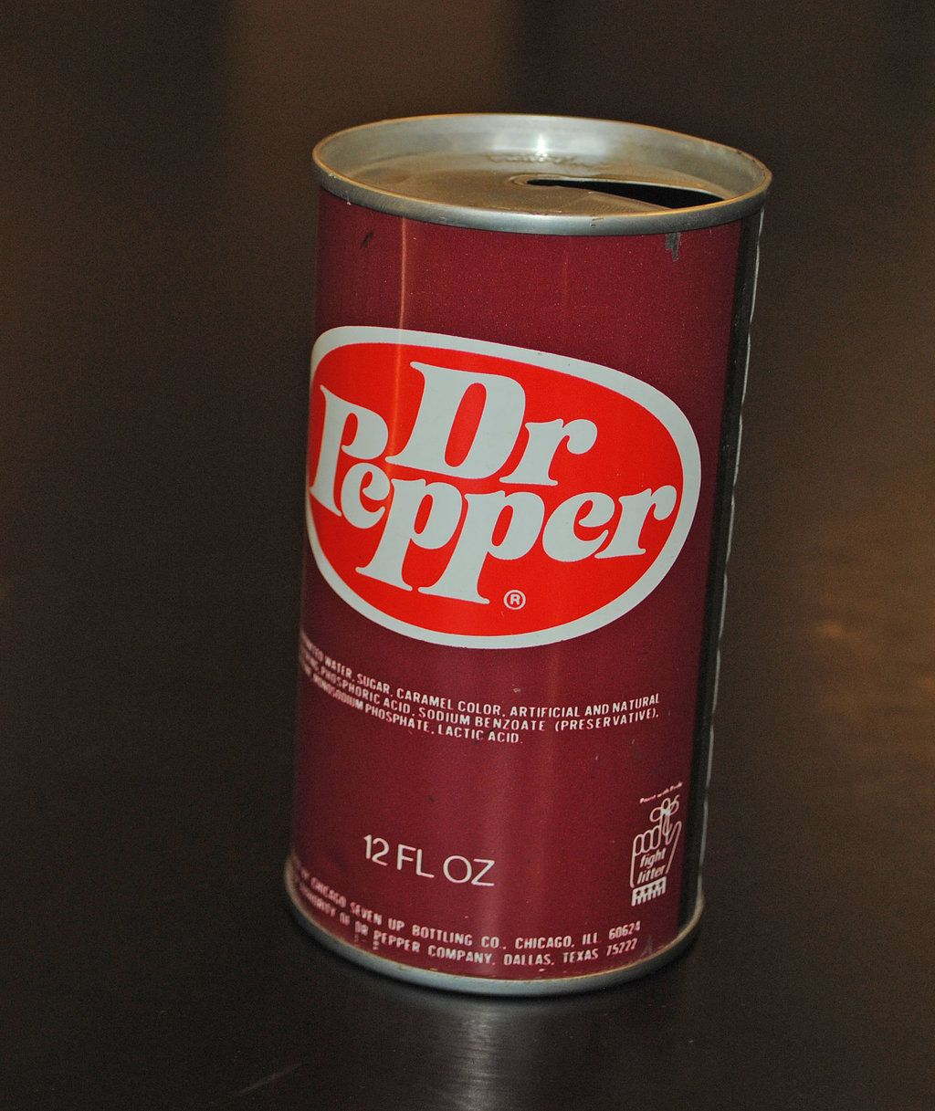 Image result for dr pepper can