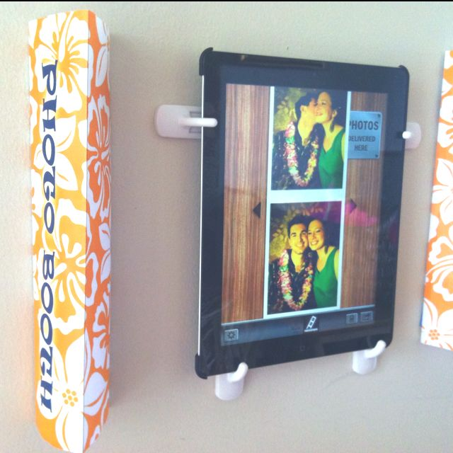 Easy tiki photo booth ipad mounted to wall with 3m hooks roll diy photo booth solutioingenieria Images