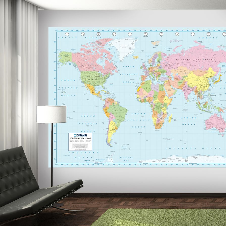 This world map mural is great for geography lovers and for those who