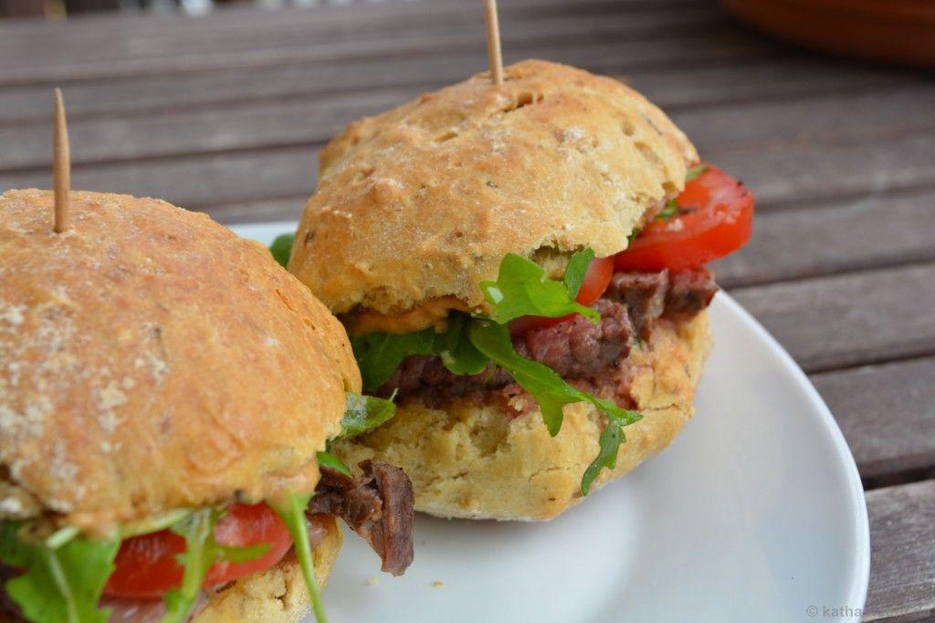 Schnelle Steak-Burger-Brötchen - Katha-kocht!