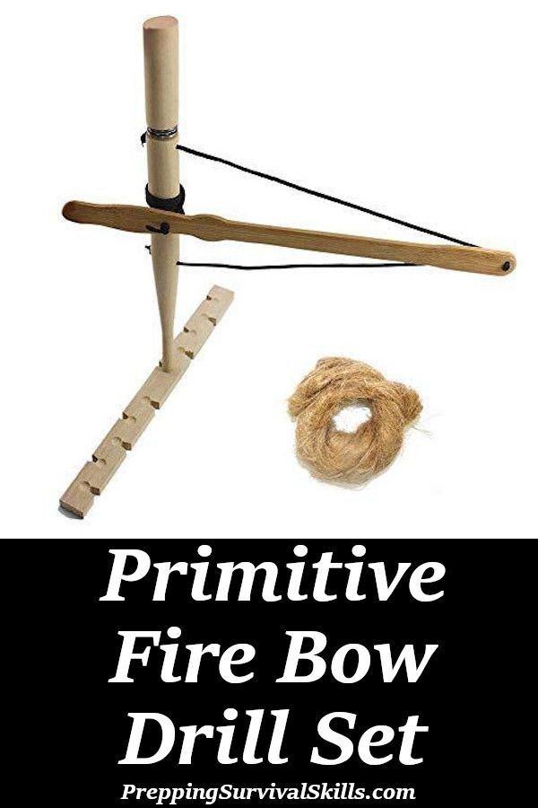 Survival Paracord Outdoor DIY Friction Fire Hand Bow Drill Fire Kit Wood Fire Starter Skills Primitive Fire Making Generation 3 Professional