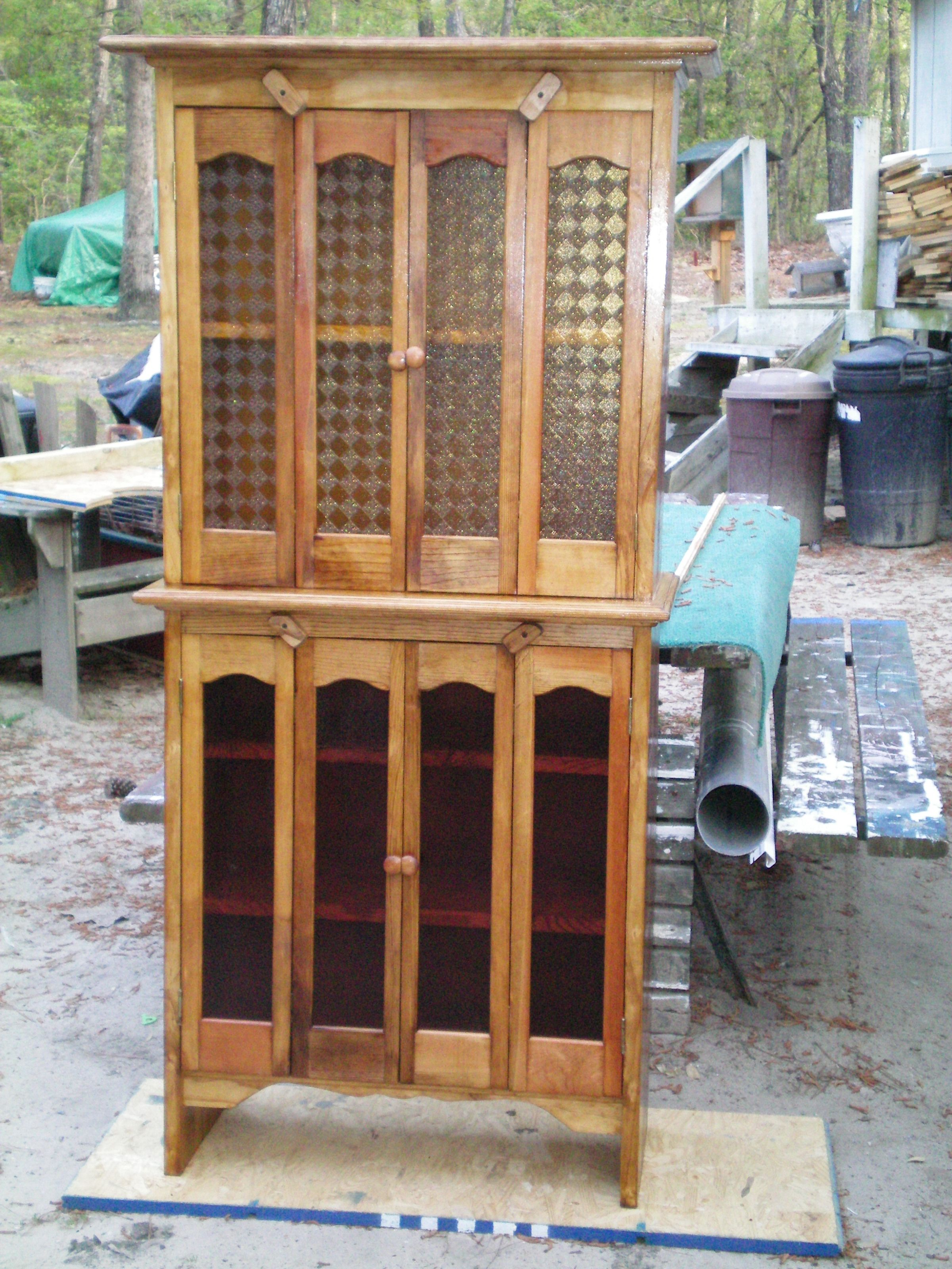 Here S A Pie Safe Liquor Cabinet Or Pantry With Stained