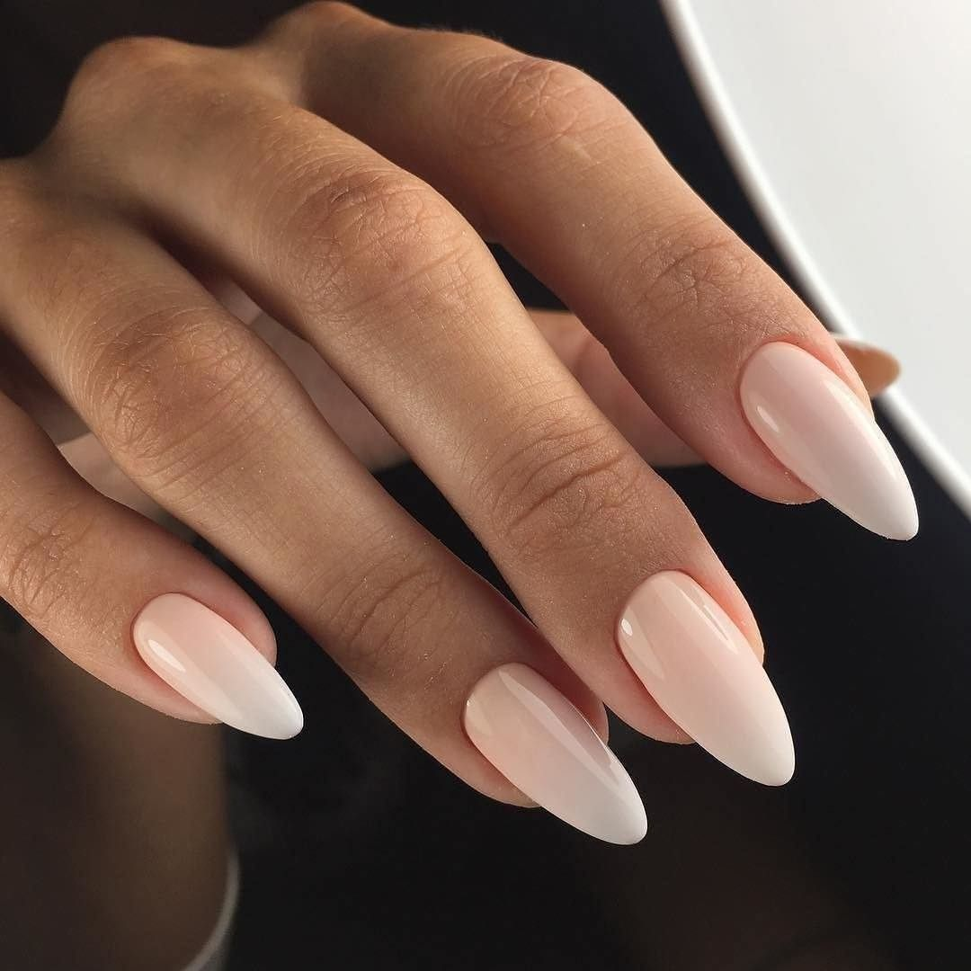 Almond Shaped Nails Classic Nails Ideas Delicate Wedding Nails Gentle Gradient Nails Long Nails Nails For Wedding Dress Blush Nails Classic Nails Manicure