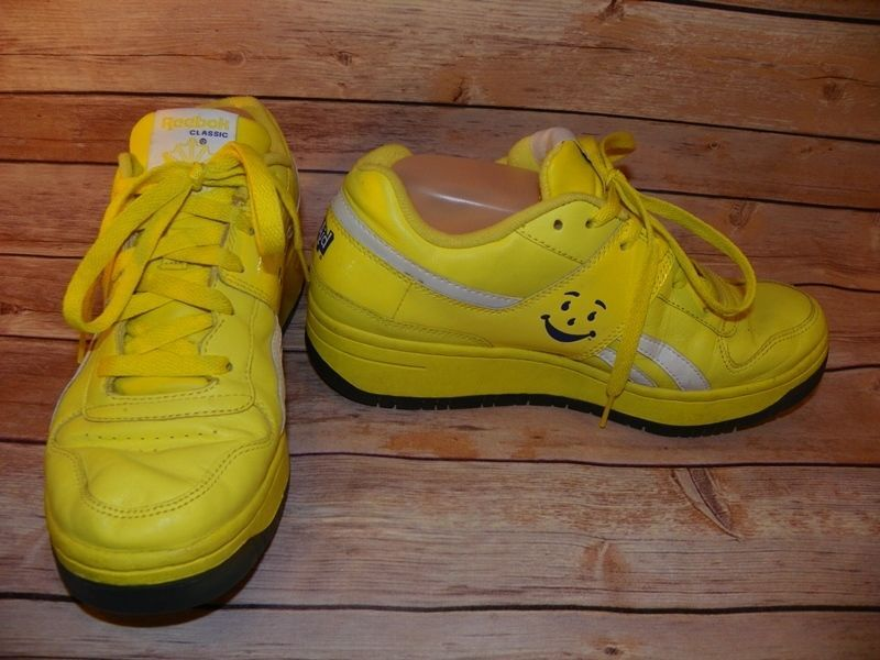 Collectible Reebok Kool-Aid Yellow Sneakers Tennis Shoes Men s 7M   Women s  8M  Reebok  Tennis 092e1ebf9