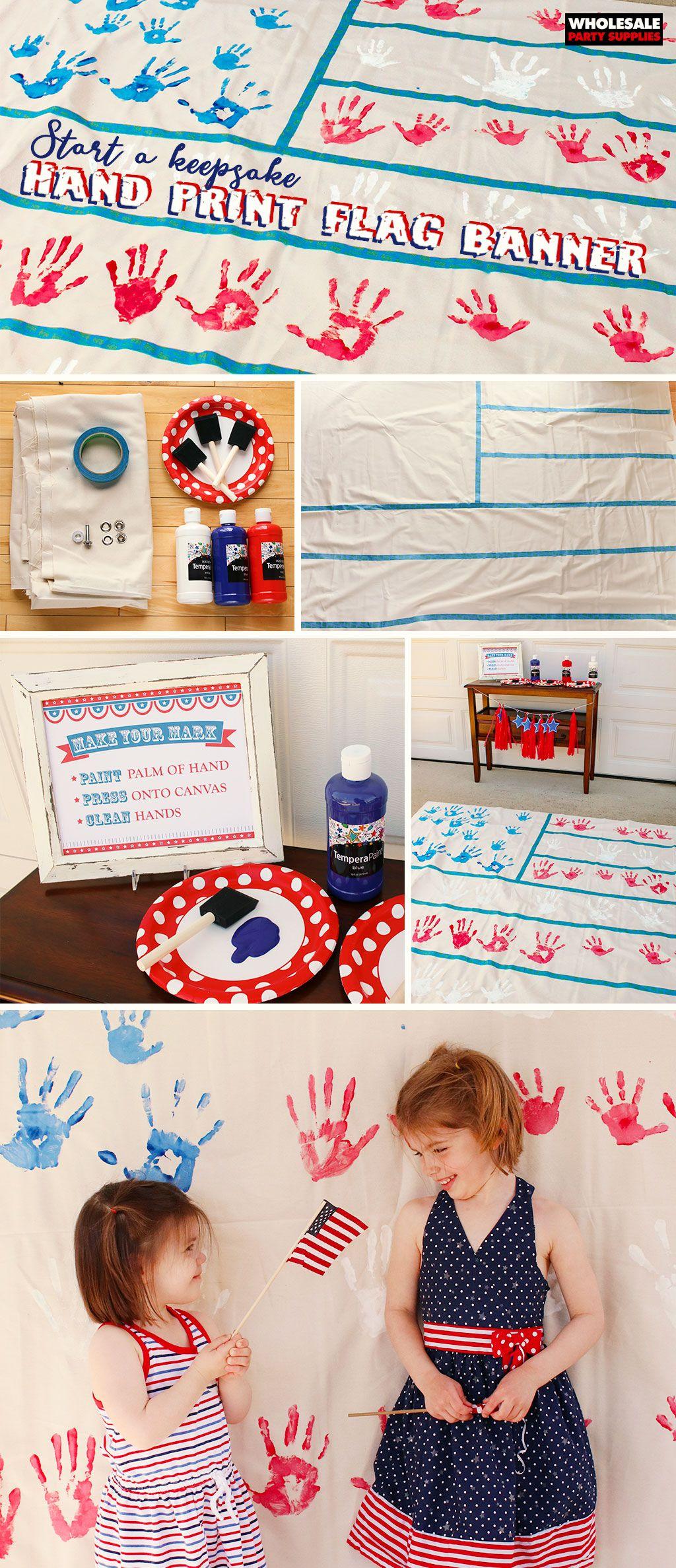 Handprint Flag Banner