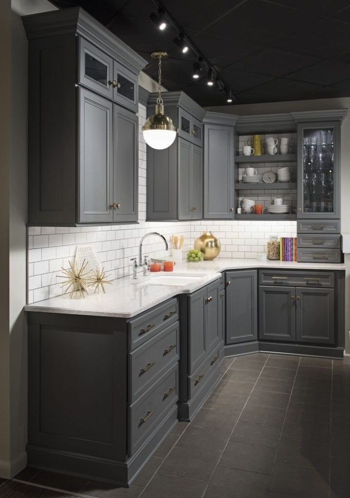45 Rustic Kitchen Cabinet Makeover Ideas #KitchenCabinet #RusticKitchen #RusticKitchenCabinet ~ Ideas for House Renovations #darkkitchencabinets