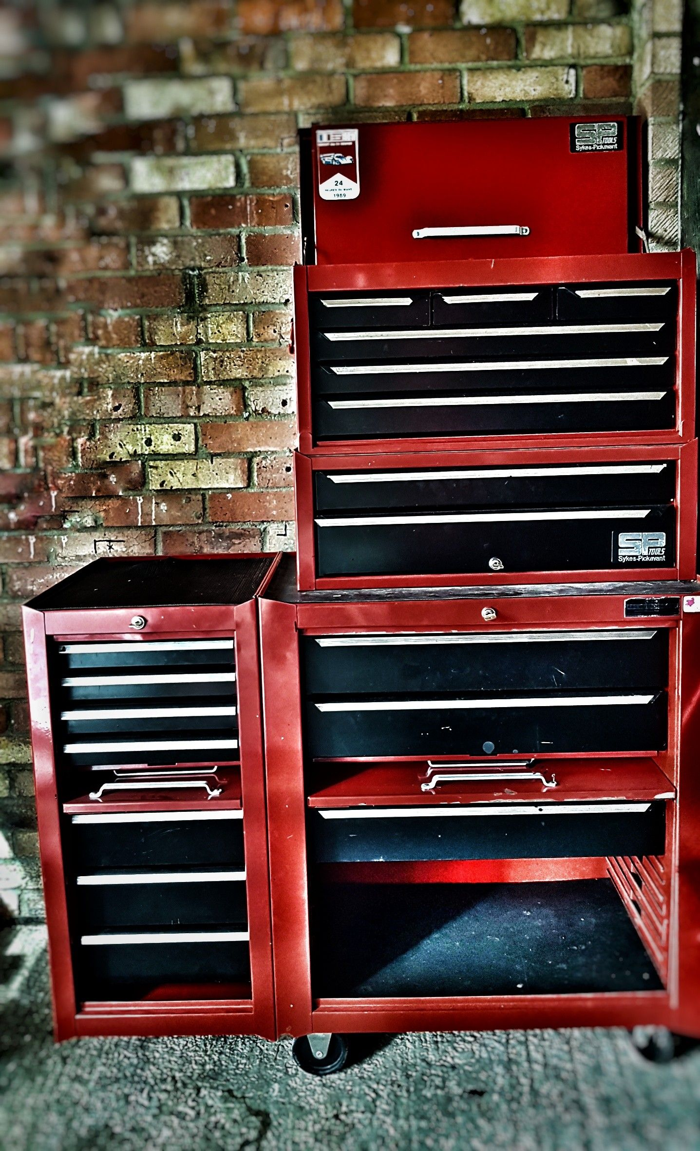 Sykes Pickavant Tool Chest Stack With Side Hanging Drawers Roll Cab Tool Chest Cool Tools Hanging Drawers