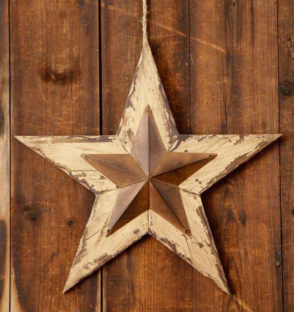 Distressed Hanging Wood Star Barn Wall Primitive Decorprimitive