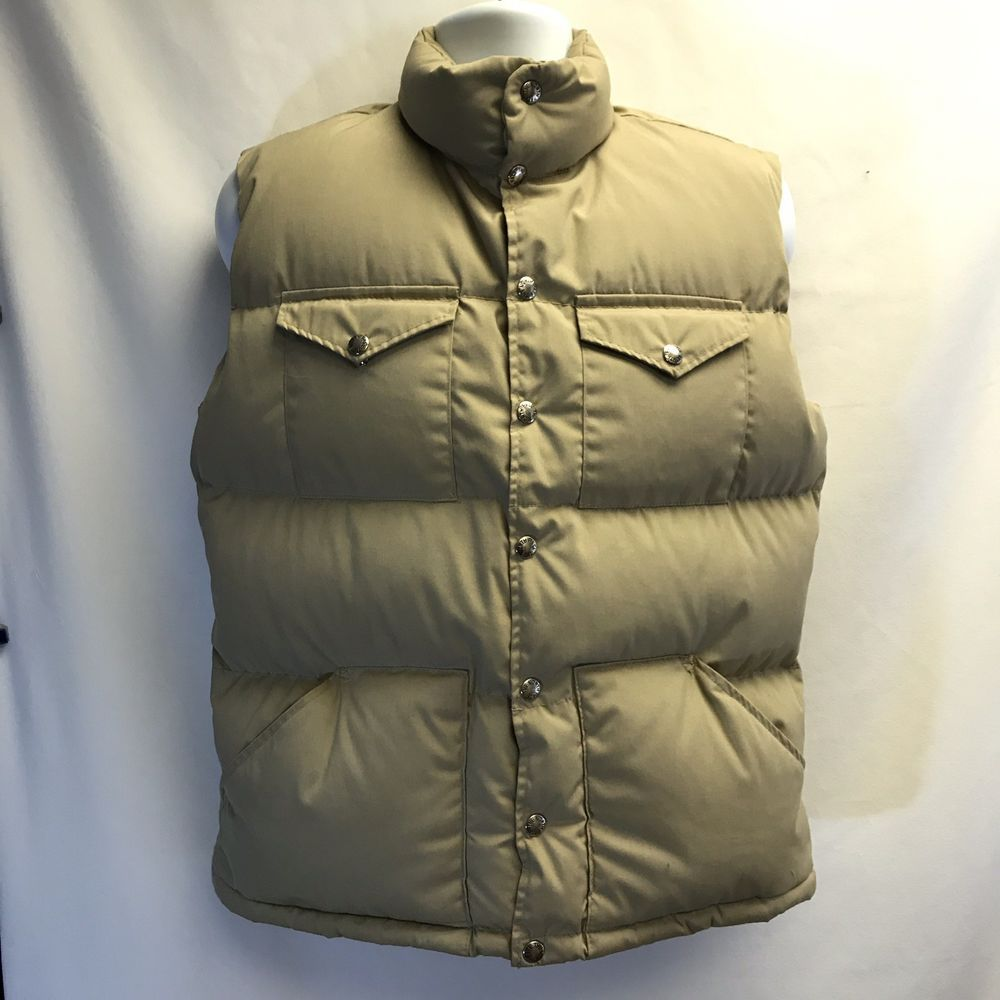 ea76854f7 Men's Vintage The North Face Down Vest Brown Label Size M Khaki ...