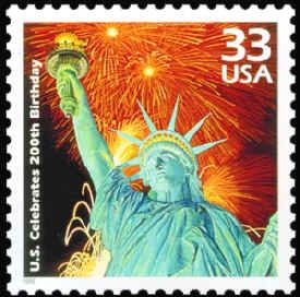 1999 Statue of Liberty Bicentennial postage stamp