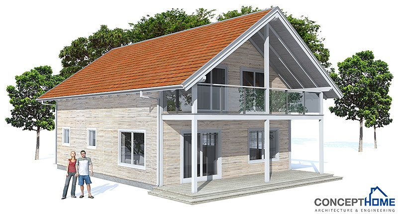 Small house plan, three bedrooms, two living areas. Classical 1.5 ...