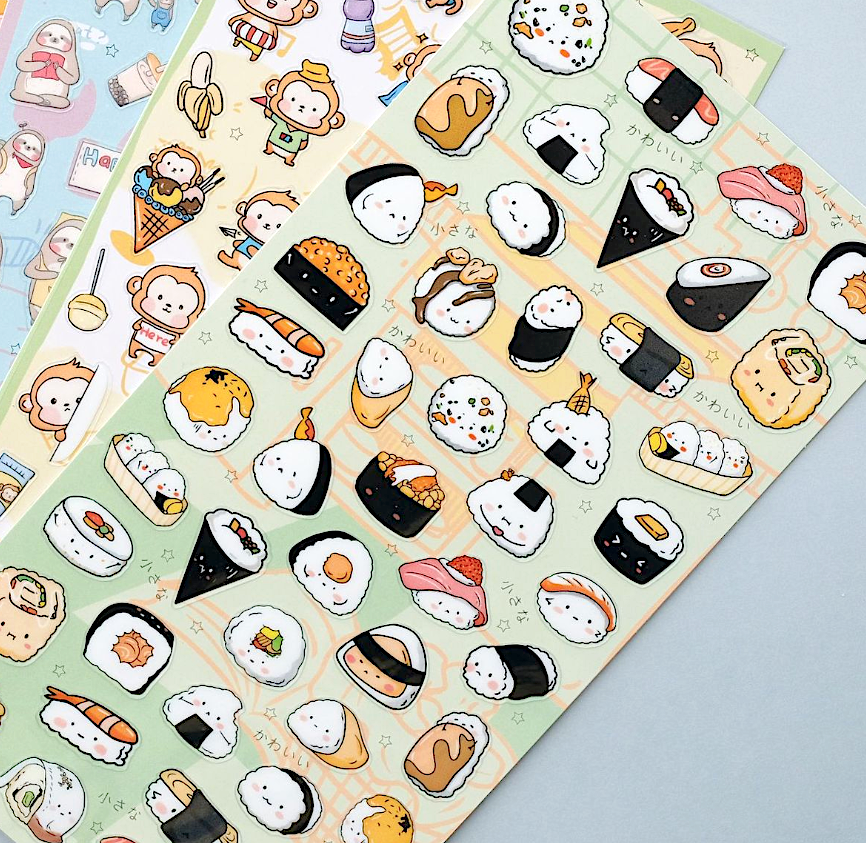 Nekoni Sushi Stickers