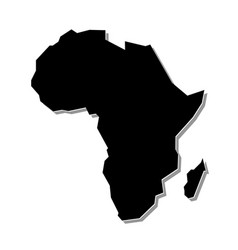 Simple Not Detailed Shape Africa Continent In 2020 Vector Sketch South Africa Map Doodle Cartoon