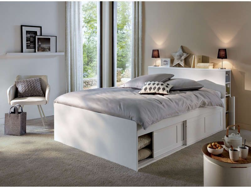 tete de lit avec rangement integre maison design. Black Bedroom Furniture Sets. Home Design Ideas