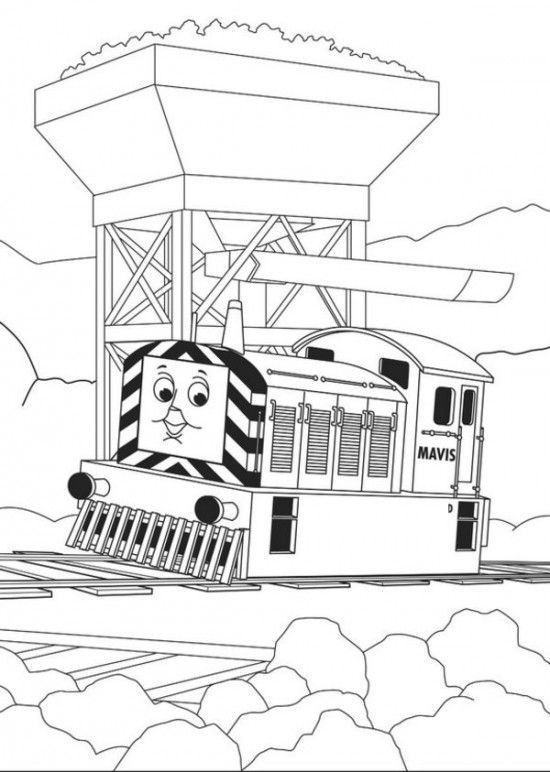 Thomas The Train Coloring Pages Picture 23 | Sebastian | Pinterest