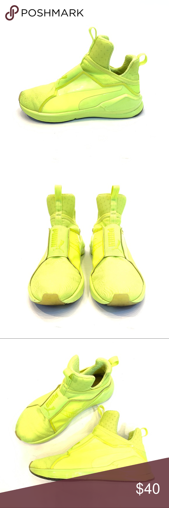 innovative design 2b7bf e66c9 Puma Fierce Bright in Neon Yellow, Sz 7.5. As seen on Rihanna and Kylie  Jenner. Super comfy and attention grabbing. Puma Shoes Sneakers