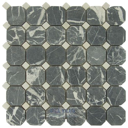 clear view tiles cv 030 17 12 tumbled negro marquina thassos