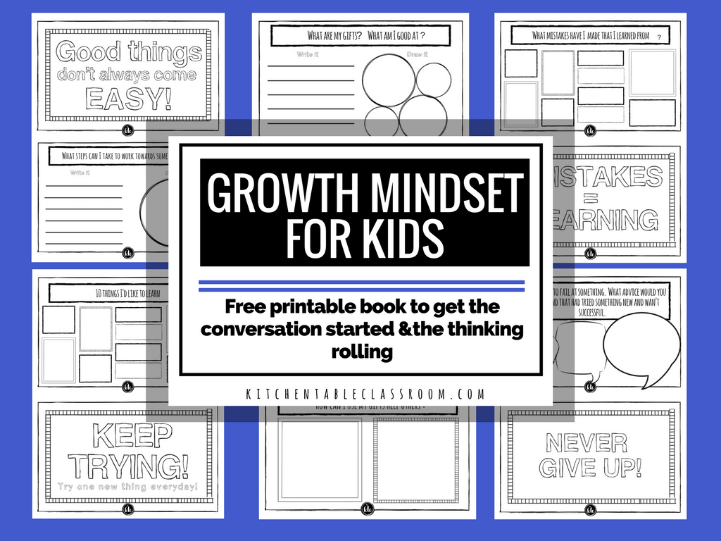 Free Growth Mindset Worksheets