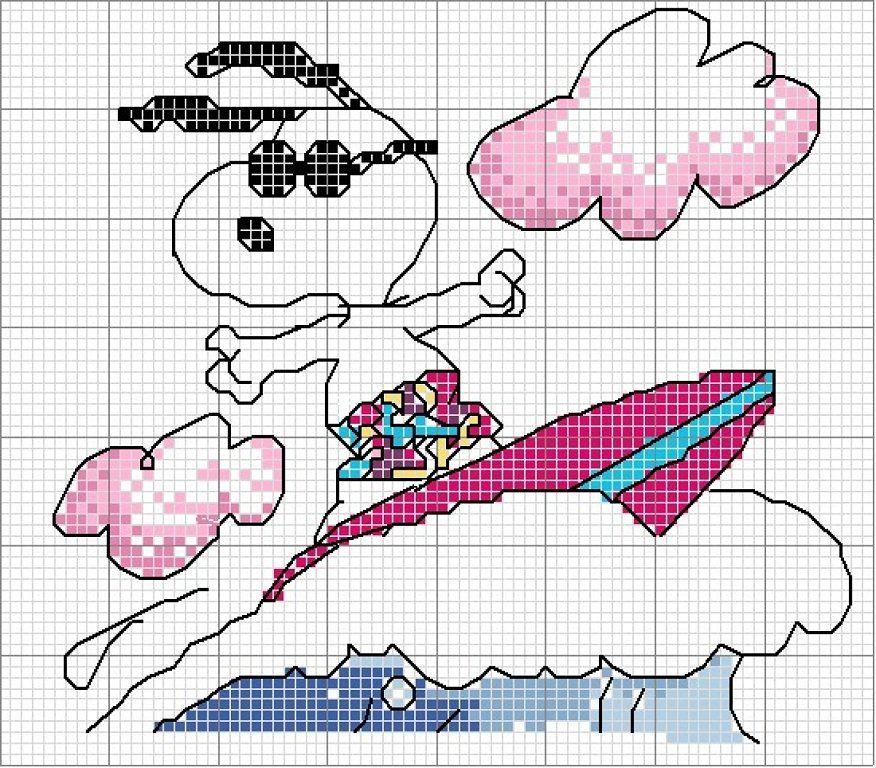 Alguien puede ayudarme? con patrones de Snoopy   Snoopy, Cross ...