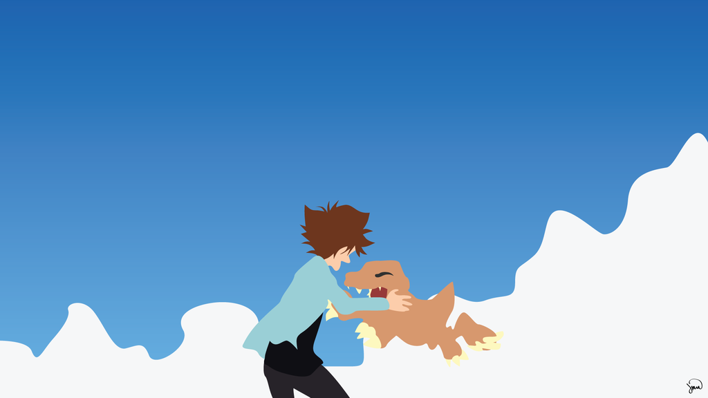 Digimon Adventure Tri Minimalist Wallpaper by greenmapple17
