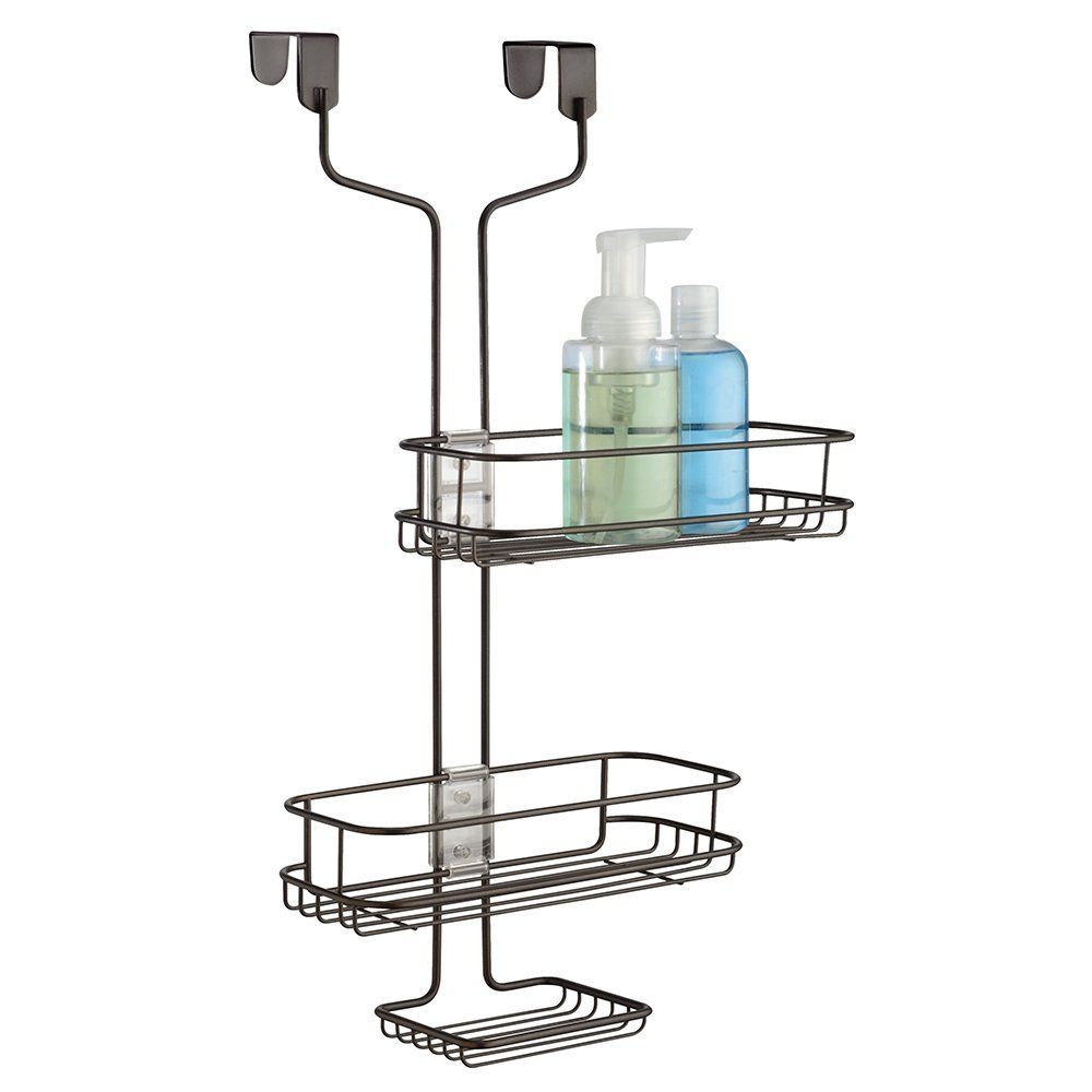Amazon.com - InterDesign Linea Over The Door Adjustable Shower Caddy ...