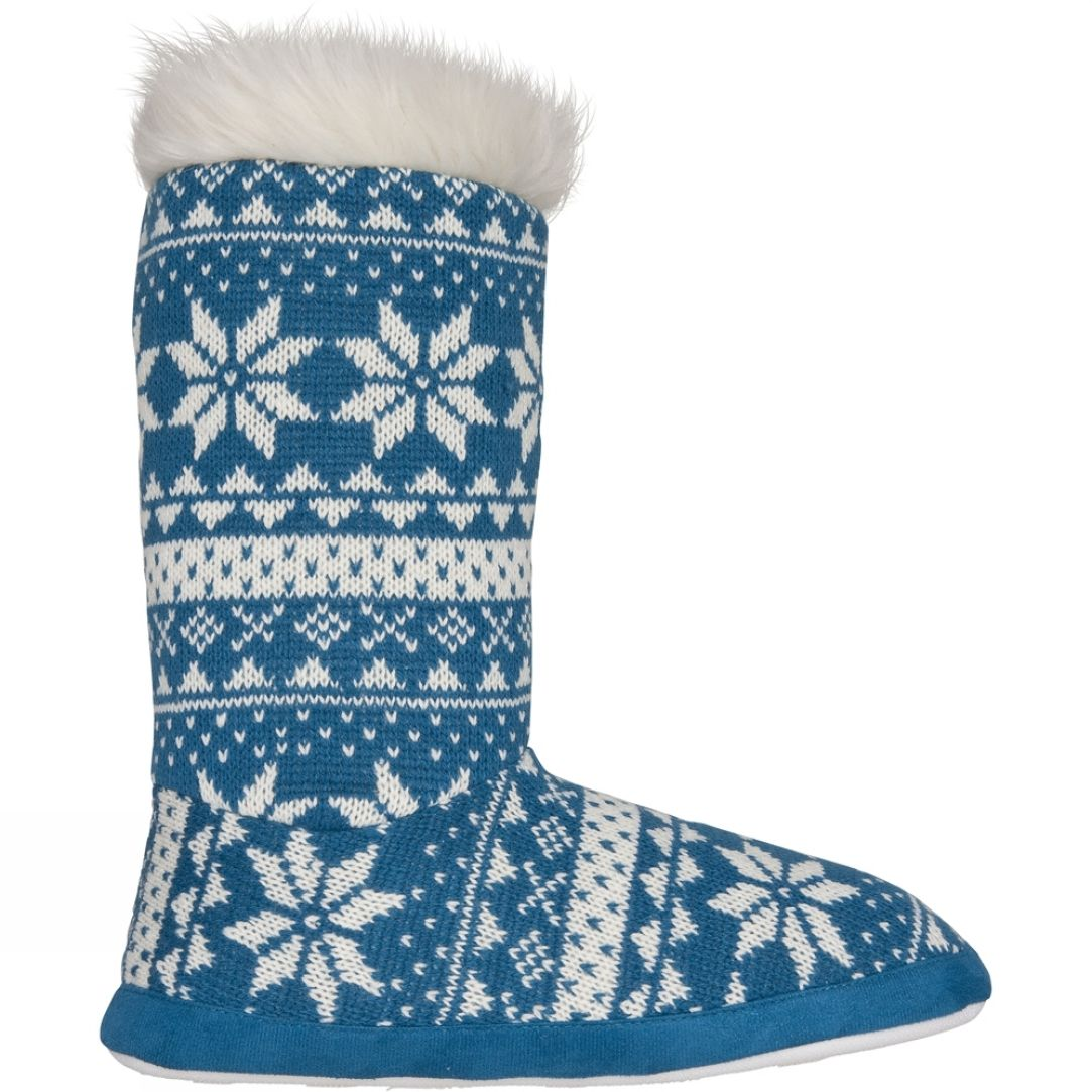 Blue Mountain Womens Knitted Nordic Slipper Sock Knitting Women Slipper Socks Knitting Projects