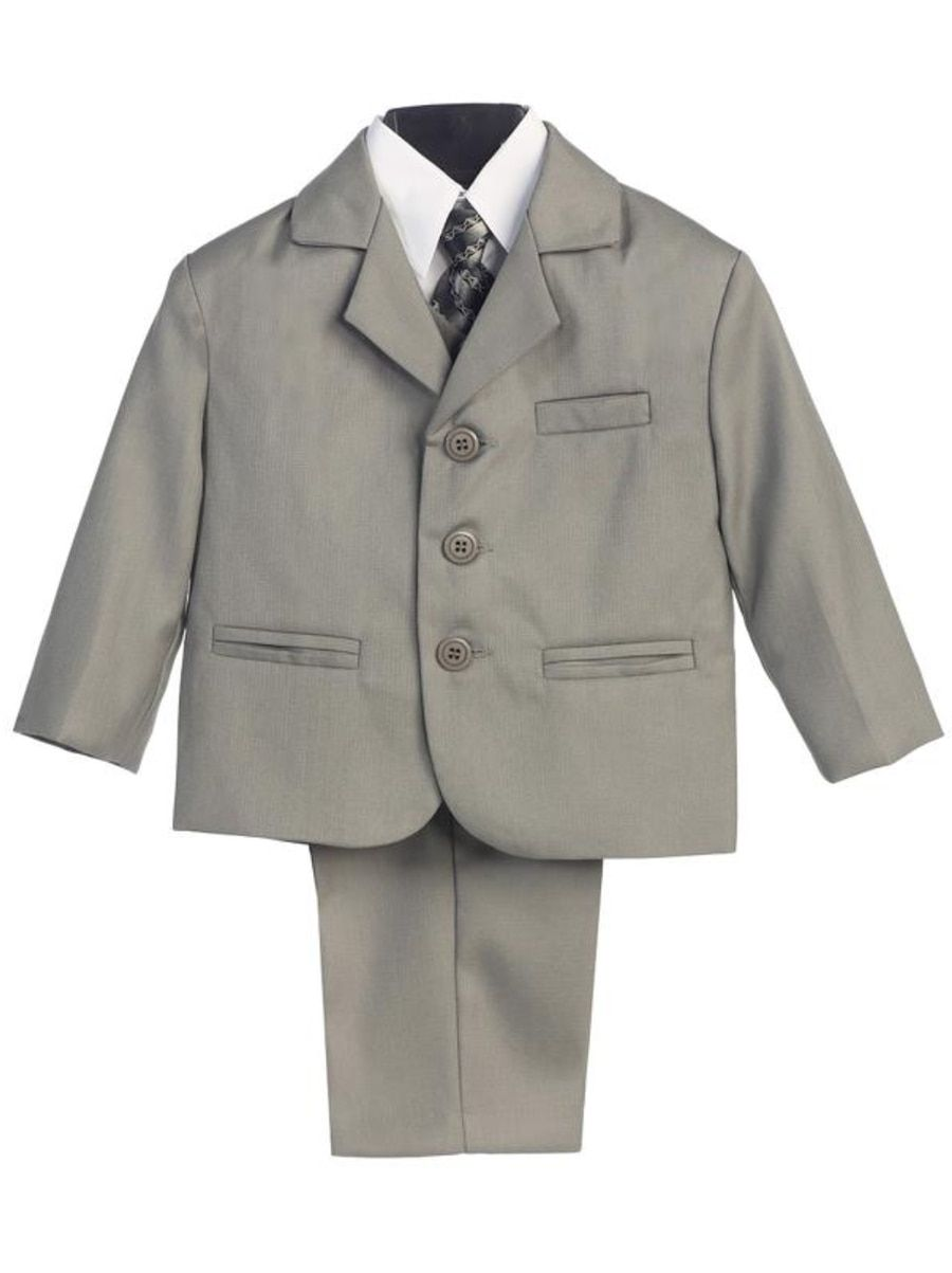 f9cb196865 Boy's 5 Piece Suit - 3 Buttoned Light Gray Jacket and Pants in 2019 ...