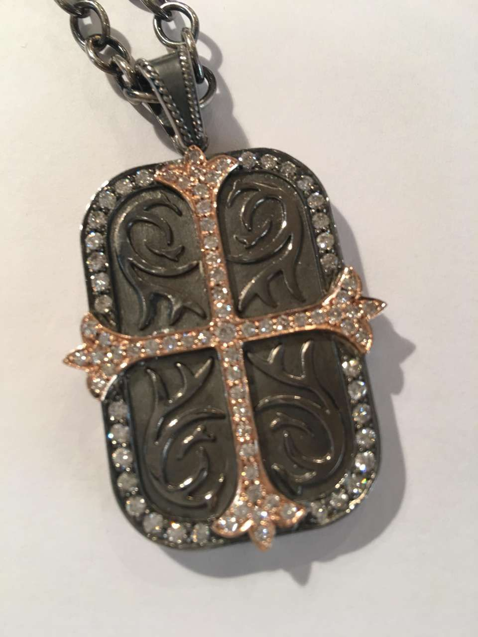 6fb13be6d For Sale on 1stdibs - Daniel Bass, NYC 14K rose Gold Sterling Silver dog Tag