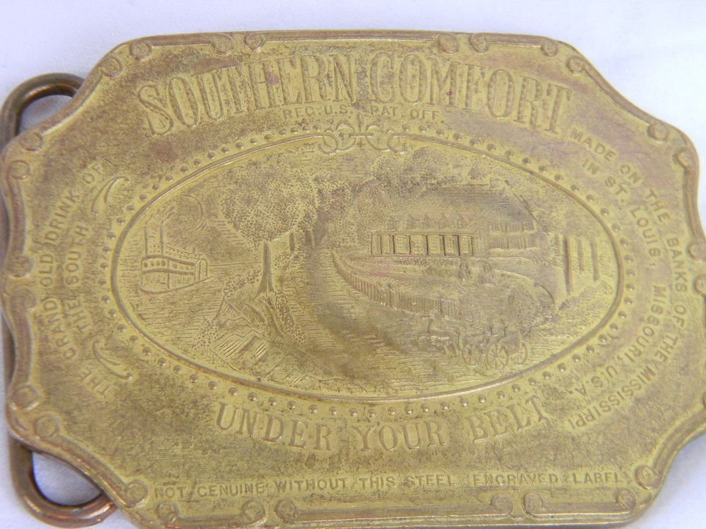 Vintage Southern Comfort Under Your Belt Brass Buckle Original Made In England  | eBay