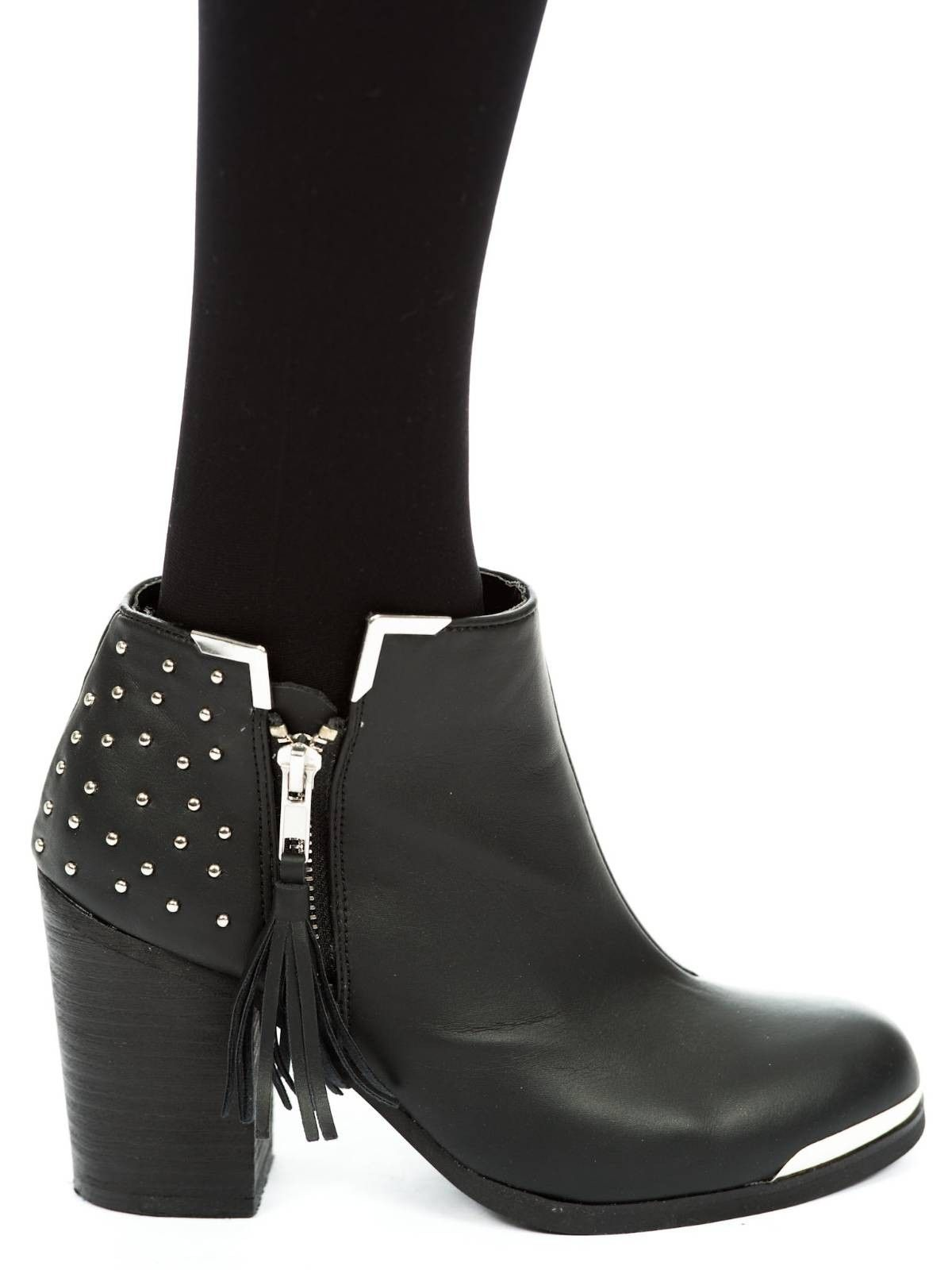 58525ee5d Fullu Black Studded Ankle Boots | pretty things // shoes | Studded ...