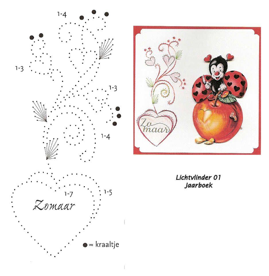 Pin de marianne v ringelenstein en borduren | Pinterest | Tarjetas ...