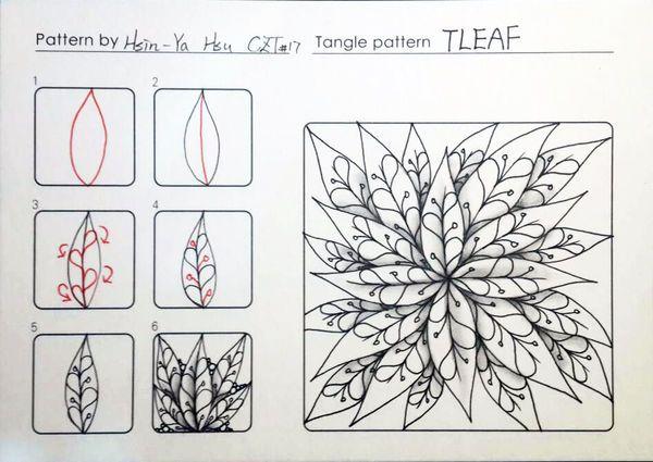 TLEAF ~ a Zentangle #tangle by Hsin-Ya hsu #CertifiedZentangleTeacher