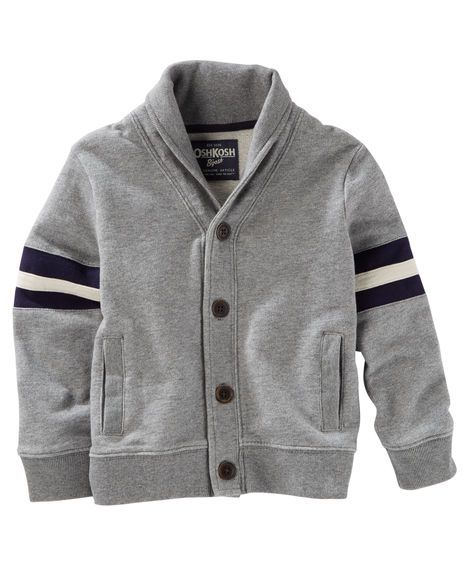ee83b843d Toddler Boy Varsity Shawl Collar Cardigan from OshKosh B'gosh. Shop  clothing & accessories from a trusted name in kids, toddlers, and baby  clothes.
