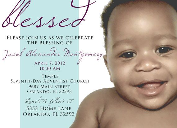 Baby Dedication Blessing Christening Invitation By