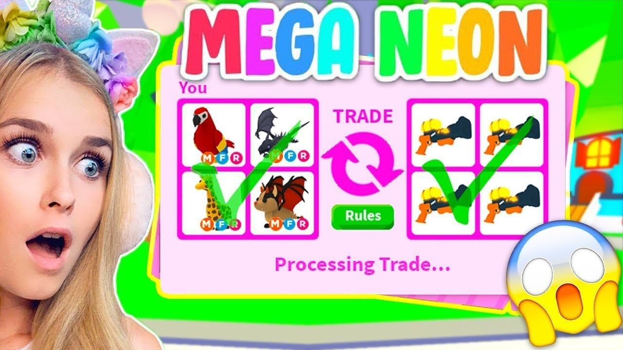 Trading Mega Neon Pets Only In Adopt Me Roblox In 2020 Science For Kids Roblox Adoption
