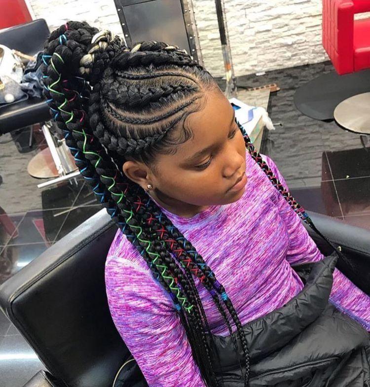 Pin By N J On Kids Hairstyles Hair Styles Kids Braided Hairstyles Natural Hair Styles