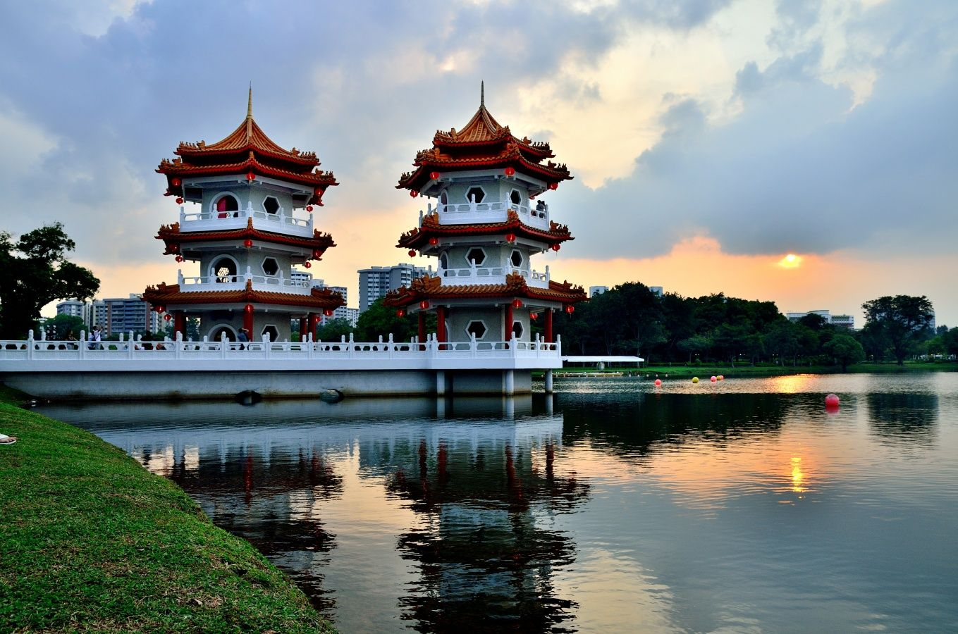 Fabulous Pagodas in the Chinese Garden