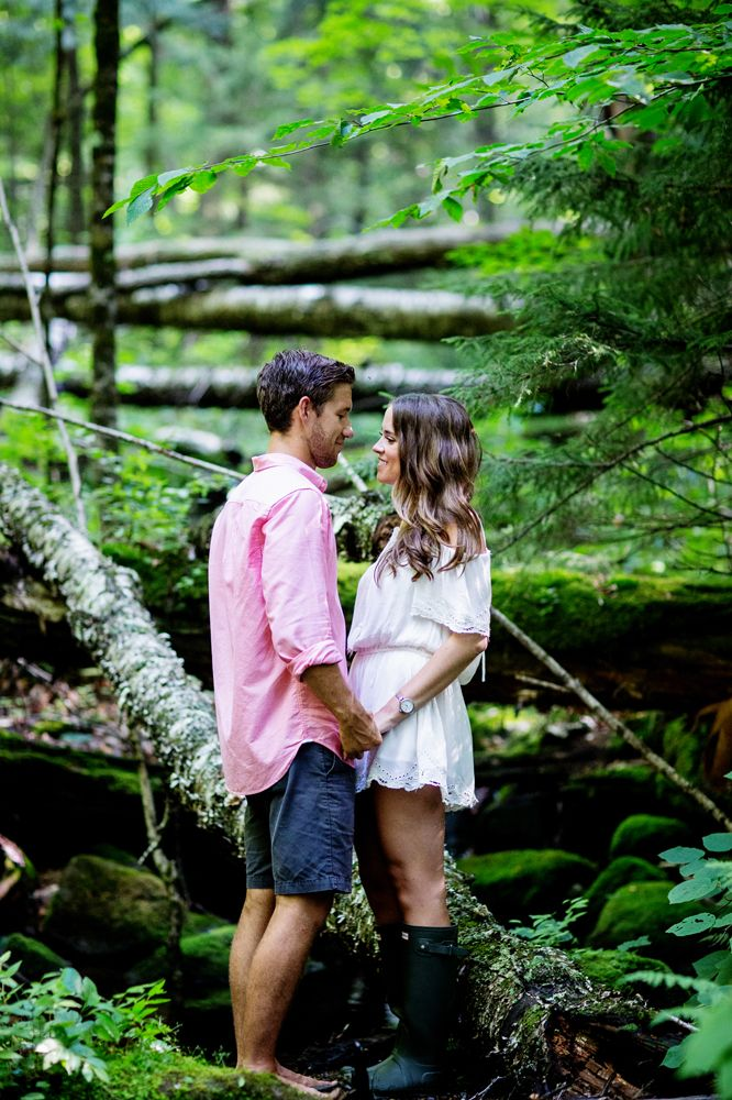 Forest Summer engagement photography | Saratoga Springs NY | hunter boots