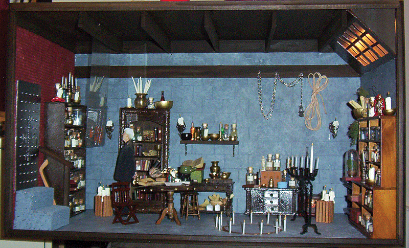 Dresden re-creation project was a dollhouse miniature recreation of part of Harry's Lab from the show