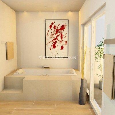 Badgestaltung-mit-Podest-400x400jpg 400×400 Pixel Bathroom - badewanne eingemauert modern