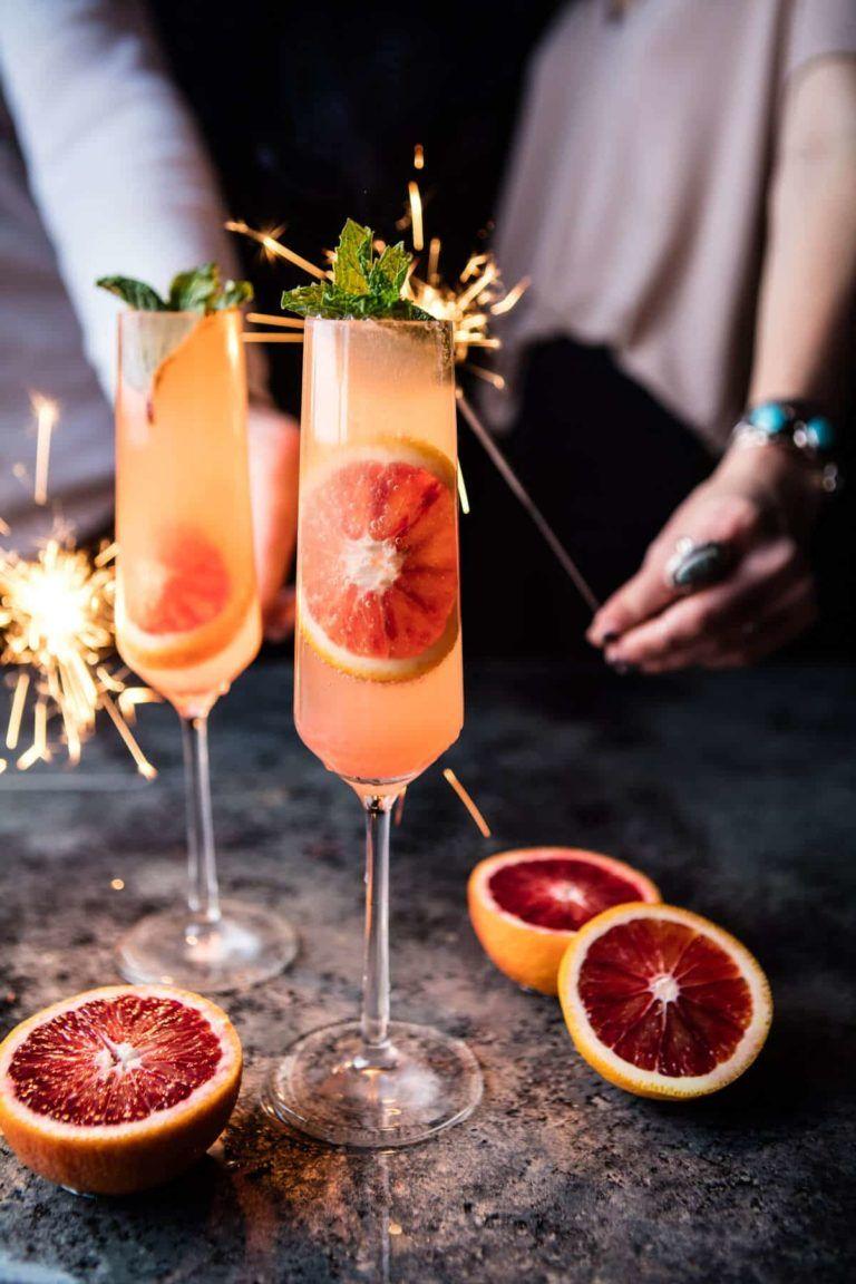 Blood Orange Champagne Mule. - Half Baked Harvest
