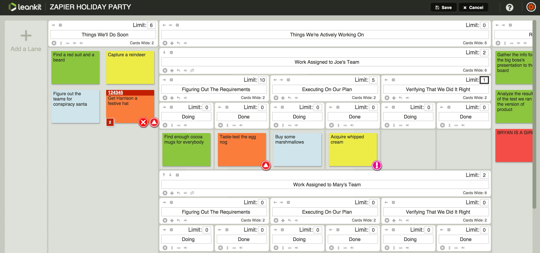 work in progress limits in LeanKit ProjectManagement