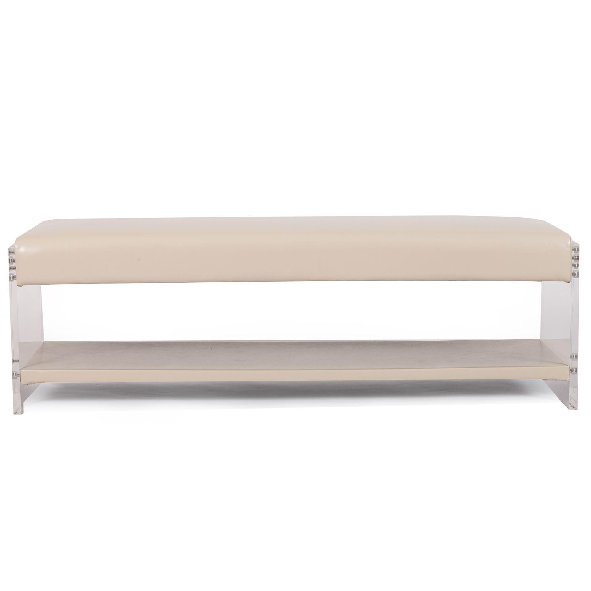 Chic Home Bh19 13cm N Dr Chaplin Bench Shelf Cream White